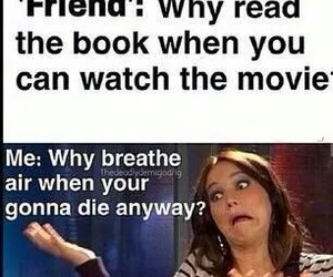 book, funny, and movie image