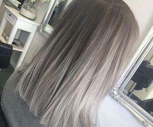 hair, grey, and beauty image