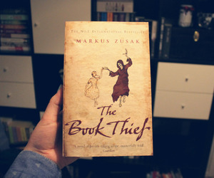 book, reading, and the book thief image