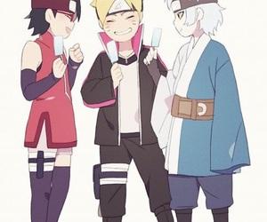 sarada, mitsuki, and boruto image