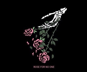 rose, black, and quotes image