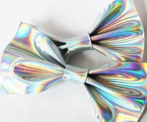 holographic, aesthetic, and bow image