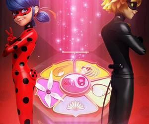 Chat Noir, ladybug, and miraculous image
