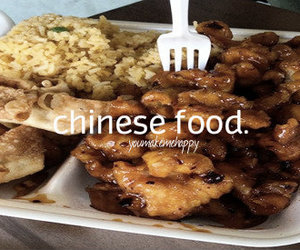 chinese food, yum, and you make me happy image