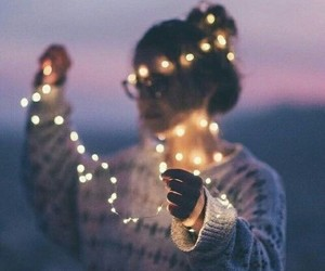 light, girl, and tumblr image