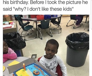 birthday, funny, and kid image