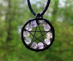 nature, witch, and pentagram image