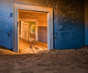 sand, desert, and abandoned image