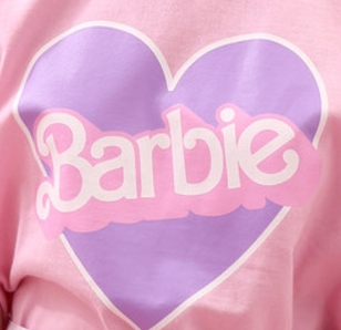 barbie, hearts, and pastel image
