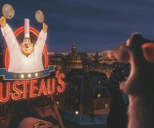 disney, ratatouille, and gusteaus image