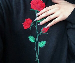 rose, nails, and aesthetic image