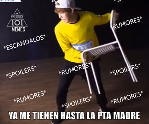 kpop, español, and meme image