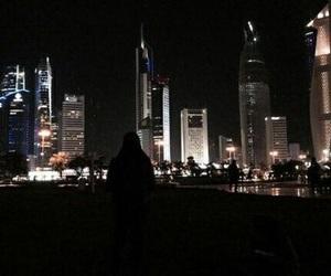city, dark, and night image