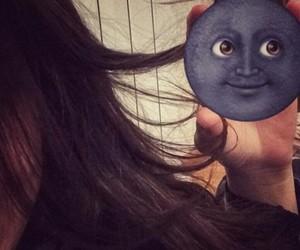 girls, hair, and moon image