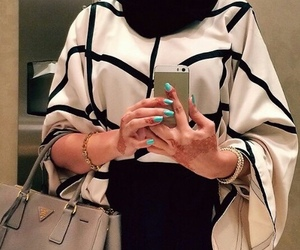 fashion, arabic, and hijab image