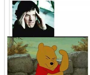 sherlock and winnie the pooh image