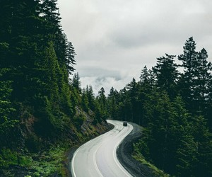 nature, wanderlust, and road image