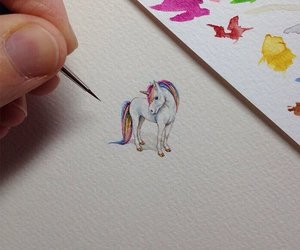 unicorn, art, and drawing image