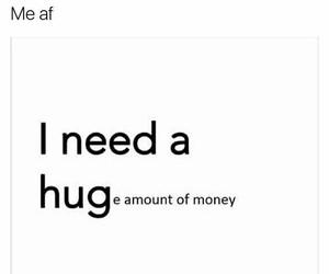 money, hug, and funny image