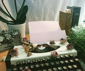 books, flowers, and inspiration image