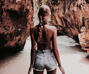 girl, summer, and braid image