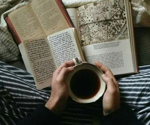 books, read, and coffee image