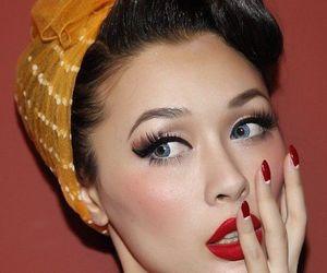 makeup, Pin Up, and nails image