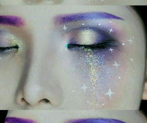creative, makeup, and sparkles image