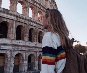 travel, hair, and rome image