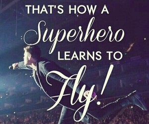 fly, fight for your dreams, and superhero image