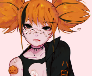 anime, art, and freckles image