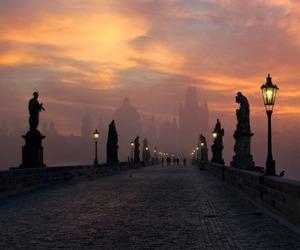 prague, travel, and bridge image