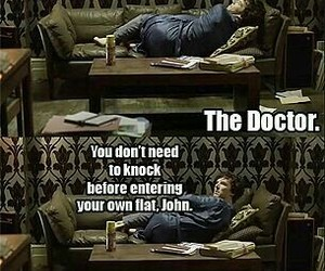 doctor who, funny, and sherlock bbc image