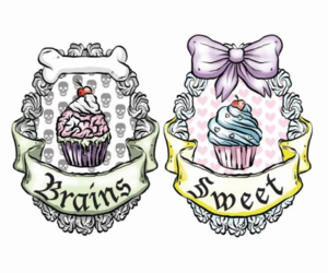 brains, cupcake, and sweet image