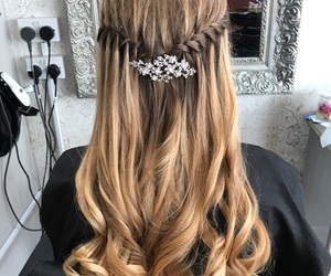 braid, curls, and exciting image