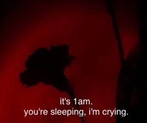 night, red, and sad image