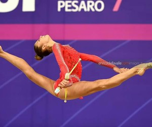 clubs, rhytmic gymnastic, and oversplit image