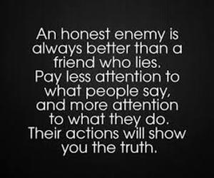 quote, enemy, and friends image
