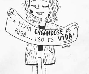 laugh, vida, and Risa image