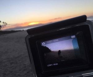 beach, photo, and love image
