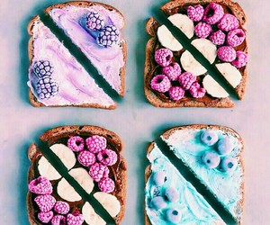 blue, breakfast, and fruta image