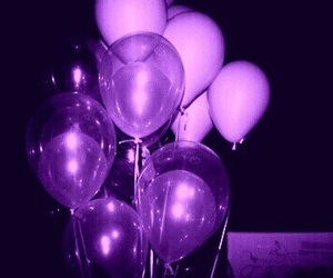 aesthetic, balloons, and purple image