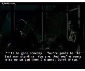 black and white, quote, and the walking dead image