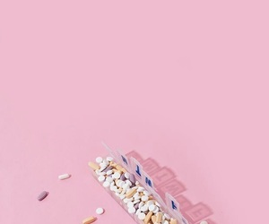 pink, aesthetic, and pills image