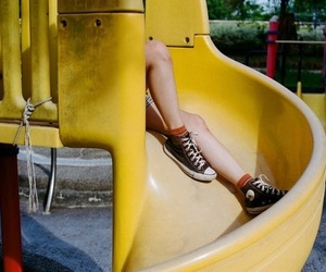 converse, shoes, and yellow image