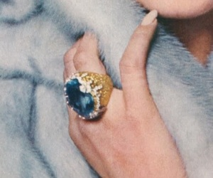 ring, blue, and beautiful image
