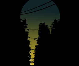 cliffs, illustration, and night image