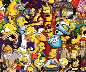 simpsons, wallpaper, and the simpsons image
