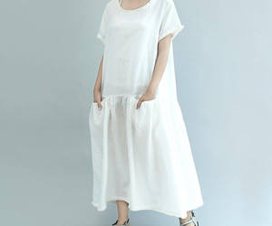 etsy, white dress, and round collar image