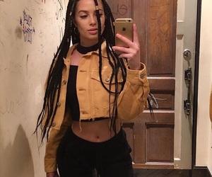 girl, braids, and fashion image